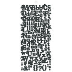 Fancy Pants Designs - Road Show Collection - Alphabet Cardstock Stickers - Black