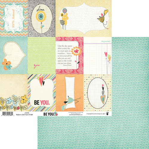 Fancy Pants Designs - Be You Collection - 12 x 12 Double Sided Paper - Cards