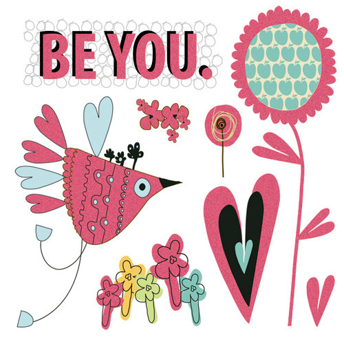 Fancy Pants Designs - Be You Collection - Glitter Cuts Transparencies