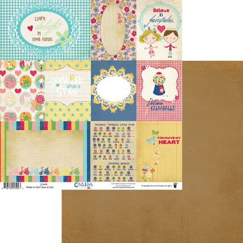 Fancy Pants Designs - Childish Things Collection - 12 x 12 Double Sided Paper - Cards