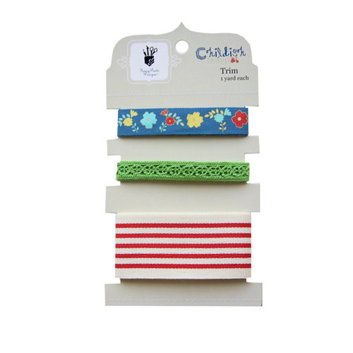 Fancy Pants Designs - Childish Things Collection - Ribbon Card