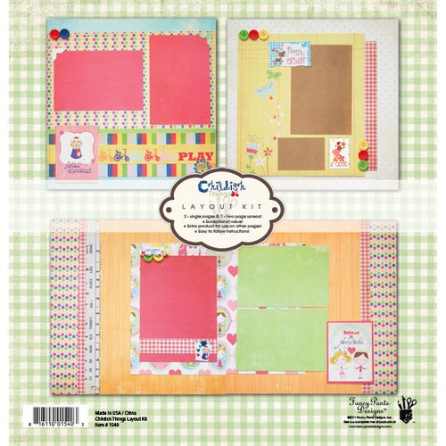 Fancy Pants Designs - Childish Things Collection - 12 x 12 Layout Kit