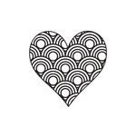 Fancy Pants Designs - Childish Things Collection - Clear Acrylic Stamps - Scallop Heart