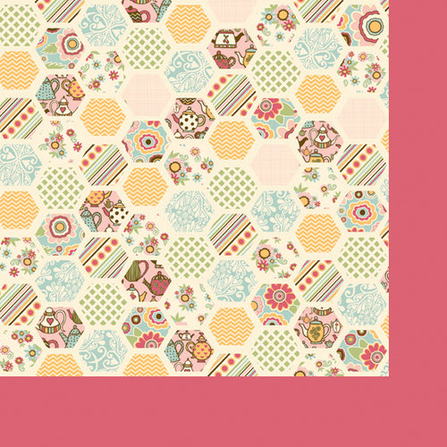 Fancy Pants Designs - Its Time for Spring Collection - 12 x 12 Double Sided Paper - Honeycomb