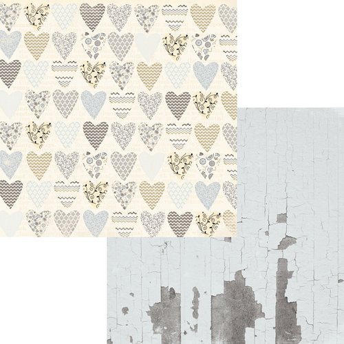 Fancy Pants Designs - Country Boutique Collection - 12 x 12 Double Sided Paper - Love