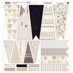 Fancy Pants Designs - Country Boutique Collection - 12 x 12 Cardstock Die Cuts - Banner