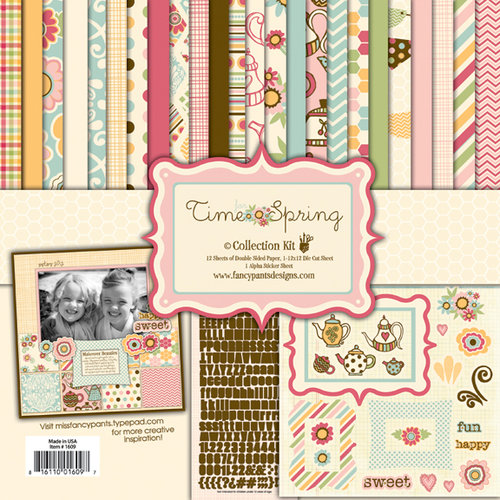 Fancy Pants Designs - Its Time for Spring Collection - 12 x 12 Paper Kit