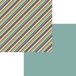 Fancy Pants Designs - Little Sport Collection - 12 x 12 Double Sided Paper - Pinstripe