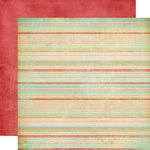 Fancy Pants Designs - Road Show Collection - 12 x 12 Double Sided Paper - Vintage Stripes