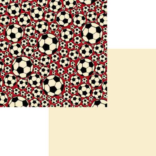 Fancy Pants Designs - Little Sport Collection - 12 x 12 Double Sided Paper - Soccer