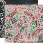 Fancy Pants Designs - Road Show Collection - 12 x 12 Double Sided Paper - Pink Paisley