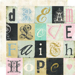 Fancy Pants Designs - Road Show Collection - 12 x 12 Double Sided Paper - Text Tiles