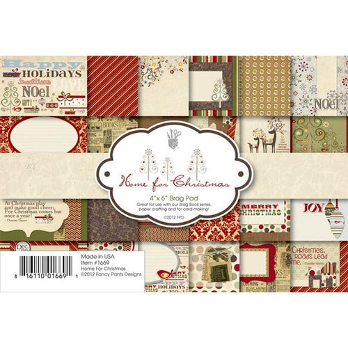 Fancy Pants Designs - Home for Christmas Collection - 4 x 6 Brag Pad