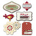 Fancy Pants Designs - Home for Christmas Collection - Layered Stickers