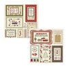 Fancy Pants Designs - Home for Christmas Collection - 12 x 12 Adhesive Chipboard Die Cuts - Frames