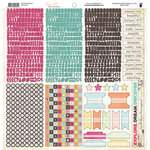 Fancy Pants Designs - Hopscotch Collection - 12 x 12 Cardstock Stickers - Fundamentals