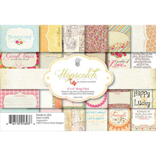 Fancy Pants Designs - Hopscotch Collection - 4 x 6 Brag Pad