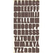 Fancy Pants Designs - Hopscotch Collection - Chipboard Stickers with Glitter Accents - Alphabet