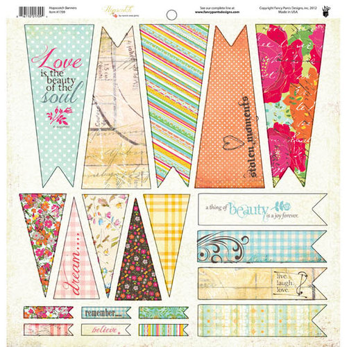 Fancy Pants Designs - Hopscotch Collection - 12 x 12 Cardstock Die Cuts - Banner