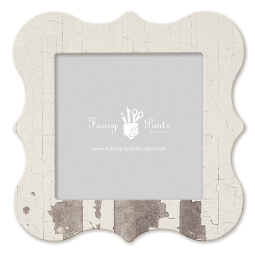 Fancy Pants Designs - 12 x 12 Frame - Bracket - White Paint Wash