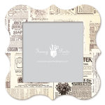 Fancy Pants Designs - 12 x 12 Frame - Bracket - Newsprint
