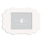 Fancy Pants Designs - 8 x 10 Frame - Scallop - Naked White