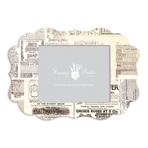 Fancy Pants Designs - 8 x 10 Frame - Scallop - Newsprint