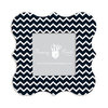 Fancy Pants Designs - 6 x 6 Frame - Bracket - Black and White Chevron
