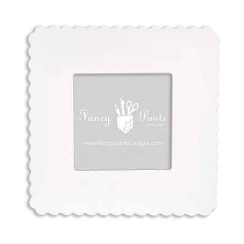 Fancy Pants Designs - 6 x 6 Frame - Scallop - Naked White