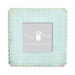 Fancy Pants Designs - 6 x 6 Frame - Scallop - Blue Gingham