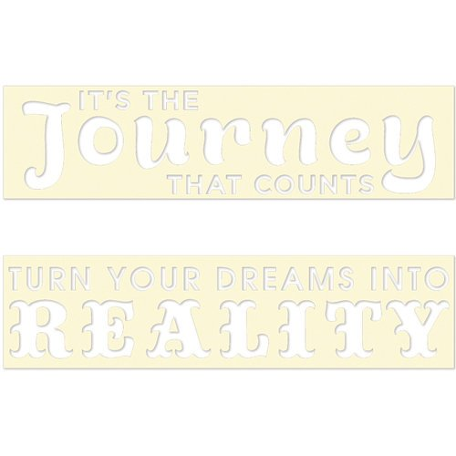 Fancy Pants Designs - Artist Edition Collection - Stencil Cards - Dream and Journey