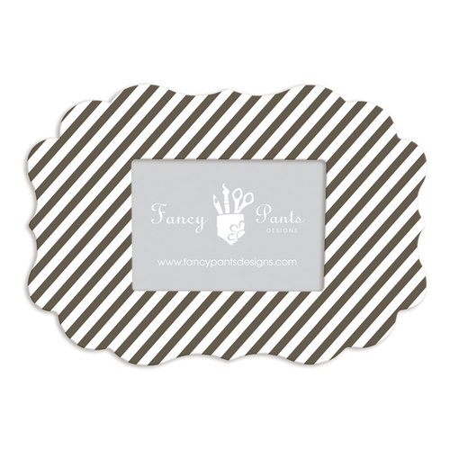 Fancy Pants Designs - 5 x 7 Frame - Scallop Bracket - Dark Chocolate Striped