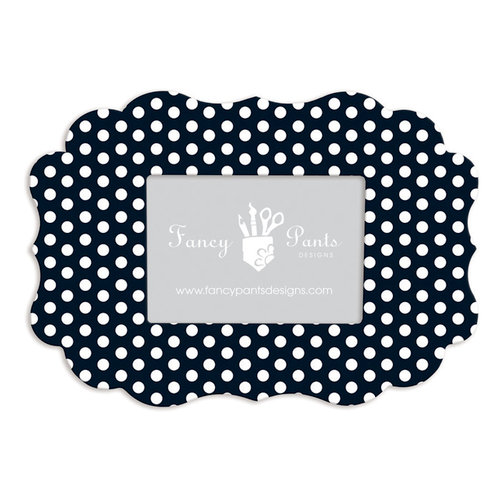 Fancy Pants Designs - 5 x 7 Frame - Scallop Bracket - Polka Dot