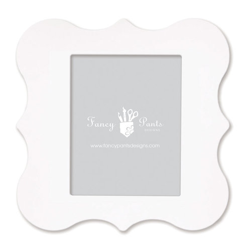 Fancy Pants Designs - 8 x 10 Frame - Opening Bracket - Naked White
