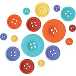 Fancy Pants Designs - Rusted Sun Collection - Buttons, CLEARANCE