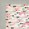 Fancy Pants Designs - Love Note Collection - 12 x 12 Double Sided Paper - Love Struck