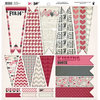 Fancy Pants Designs - Love Note Collection - 12 x 12 Cardstock Die Cuts - Banner