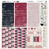 Fancy Pants Designs - Love Note Collection - 12 x 12 Cardstock Stickers - Fundamentals