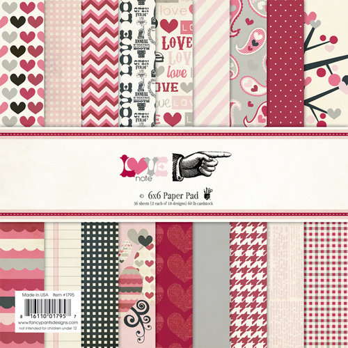 Fancy Pants Designs - Love Note Collection - 6 x 6 Paper Pad