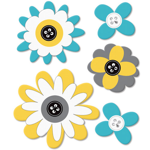 Fancy Pants Designs - Park Bench Collection - Felt Flowers