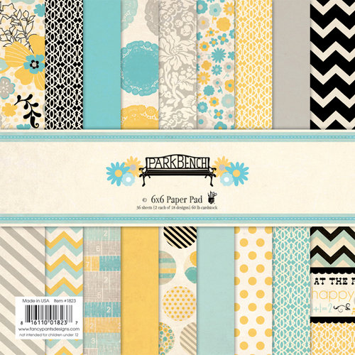 Fancy Pants Designs - Park Bench Collection - 6 x 6 Paper Pad