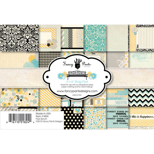 Fancy Pants Designs - Park Bench Collection - 4 x 6 Brag Pad