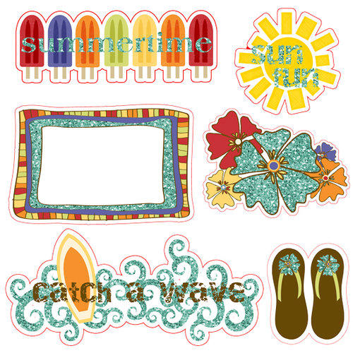 Fancy Pants Designs - Rusted Sun Collection - 12 x 12 Glitter Cuts Transparencies