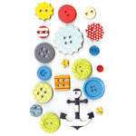 Fancy Pants Designs - Down by the Shore Collection - Button Set