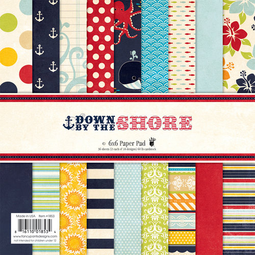 Fancy Pants Designs - Down by the Shore Collection - 6 x 6 Paper Pad