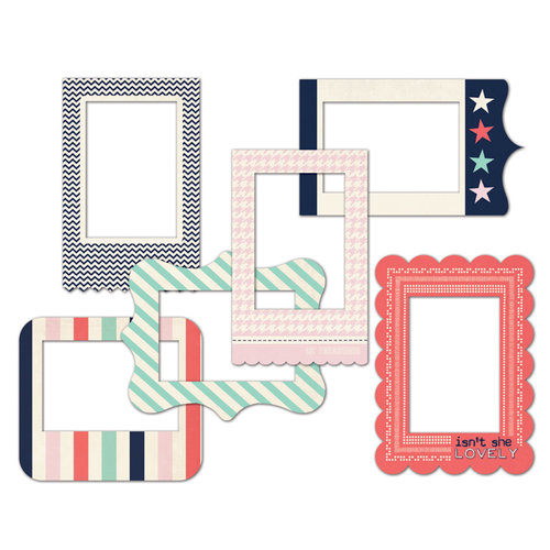 Fancy Pants Designs - Trend Setter Collection - Patterned Photo Frames