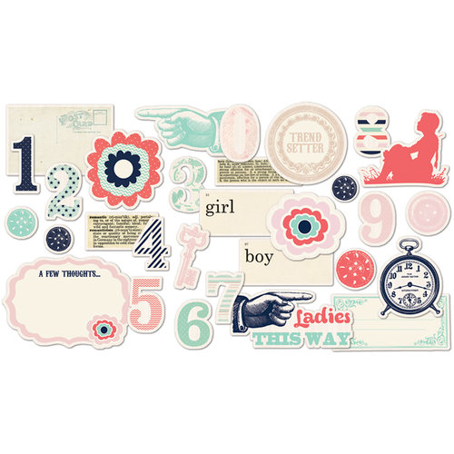 Fancy Pants Designs - Trend Setter Collection - Ephemera Pack