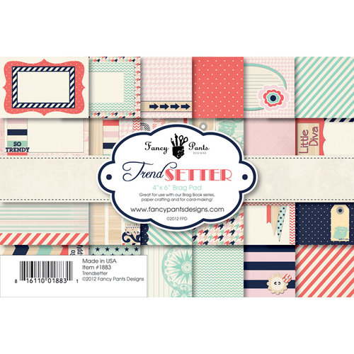 Fancy Pants Designs - Trend Setter Collection - 4 x 6 Brag Pad