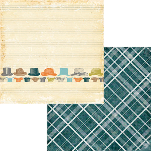 Fancy Pants Designs - Swagger Collection - 12 x 12 Double Sided Paper - Top Hat