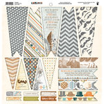 Fancy Pants Designs - Swagger Collection - 12 x 12 Cardstock Die Cuts - Banner